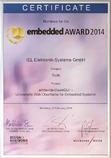 embedded AWARD 2014 Urkunde